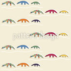 Lustige Ameisenbären Nahtloses Vektor Muster