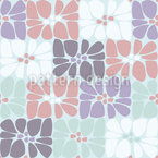 Mosaic Blossom Paving Seamless Vector Pattern