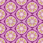 Kunstvolle florale Rundungen Nahtloses Vektormuster