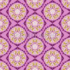 華やかな丸みを帯びた花の形 シームレスなベクトルパターン設計