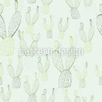 Nopal Cactus Bunny Ears Seamless Vector Pattern Design