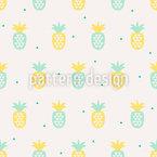 Ananas rencontre les triangles Motif Vectoriel Sans Couture