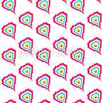 Hearts On Fire Pattern Design