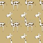 Giraffenparty Nahtloses Vektormuster