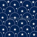 星のある空 シームレスなベクトルパターン設計