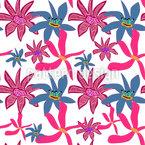 春の花のファンタジー シームレスなベクトルパターン設計