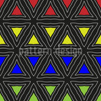 Three Colors Vector Pattern
