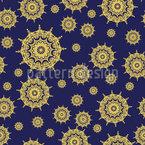 Estrela Mandala Design de padrão vetorial sem costura
