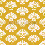 Concha ou Flor Design de padrão vetorial sem costura