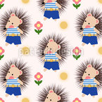 Friendly Hedgehog Repeating Pattern