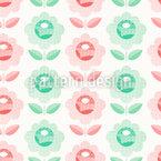 Stamped Flower Vector Design
