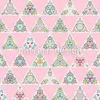 Triângulo Floral Design de padrão vetorial sem costura