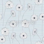 Hand-drawn Gerberas Design Pattern