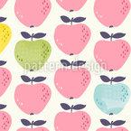 愛らしいリンゴ シームレスなベクトルパターン設計