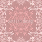 Filigranes Blumen Mandala Designmuster