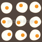 Tasty Fried Eggs Seamless Vector Pattern Design