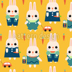 Adorable Bunnies Seamless Pattern