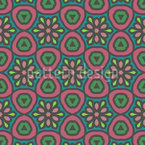 Sechs Um Einen Blume Vektor Muster