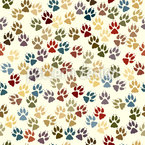 Doggy Paws Repeating Pattern