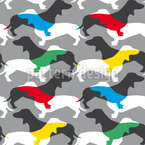 Dachshound Mania Seamless Vector Pattern Design