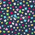 紙吹雪の花 シームレスなベクトルパターン設計