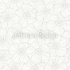 Zerknitterte Blumen Nahtloses Vektormuster