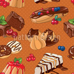 Lovely Desserts Seamless Vector Pattern Design