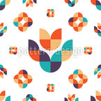 Abstract Folk Flower Vector Pattern