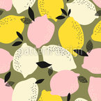 Entzückende Zitronen Nahtloses Vektormuster