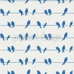 Vögel Auf Der Leitung Rapportiertes Design