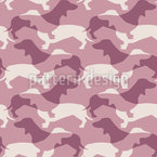 Sausage Dog Camouflage Repeat Pattern