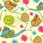 Mandala Schnecken Nahtloses Vektormuster