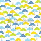 Guarda-chuvas em todo lugar Design de padrão vetorial sem costura