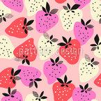 Entzückende Erdbeeren Nahtloses Vektormuster