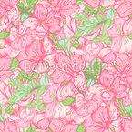 Apfelbaumblüten Nahtloses Vektor Muster