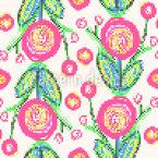 Blumenstickerei Vektor Design