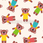 Teddy Dance Repeating Pattern