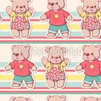 Fröhlicher Teddy Rapportmuster