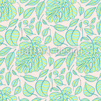 Tropical Stripes Seamless Vector Pattern Design