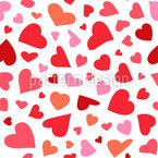 Fliegende Herzen Vektor Muster