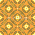 Retro Diamond Seamless Vector Pattern Design