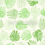 Tropical Leaf Collection Seamless Vector Pattern