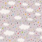 Chuva Colorida Design de padrão vetorial sem costura