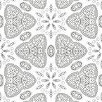 Flower Kaleidoscope Seamless Vector Pattern Design