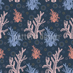 Coral Diversity Seamless Vector Pattern Design