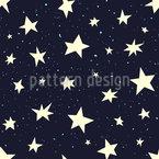 Schläfrige Sterne Nahtloses Muster