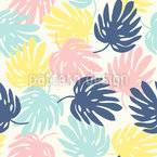 Botanisches Fensterblatt  Nahtloses Vektor Muster