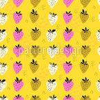Erdbeerfeld Nahtloses Muster