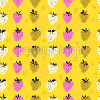 Strawberry Field Seamless Vector Pattern Design