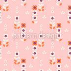 グリッドの花 シームレスなベクトルパターン設計